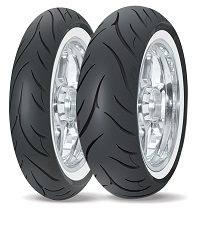 Avon Cobra White wall cruiser tyres MH90-21, 80/90-21, MT90B-16, 130/90-16, MU85B-16, 140/90B-16, 150/80B-16 Harley Davidson Whitewall tires