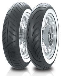 Avon Venom White Wall motorcycle cruiser tyres