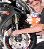 Motorcycle mechanics with a vast experience of over 30 years