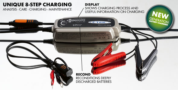 CTEK Multi MXS-5.0 Charger. The XS4003  is ideal for your Motorcycle, Scooter, ATV, Quad Bike, Jet Ski, Boat & Car - Price $121.56